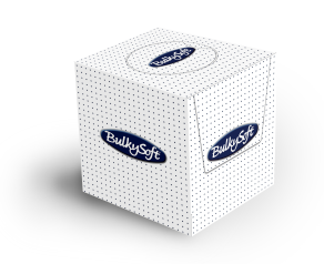 Bulkysoft Facial Tissue Cube