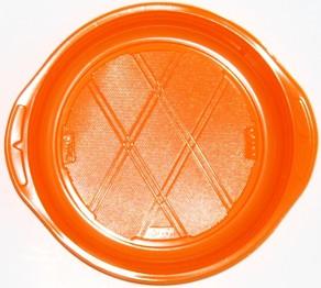 Piattini dessert  colore Arancio  per Slidedish diam. cm 17