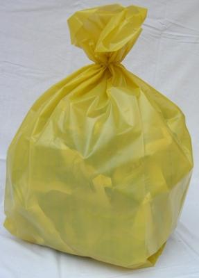 Sacchi rifiuti 88×118 cm. trasparenti gialli