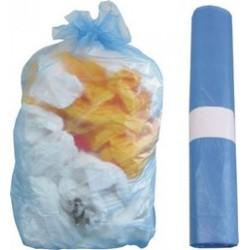 Sacchi rifiuti trasparenti  70×110 cm. azzurri