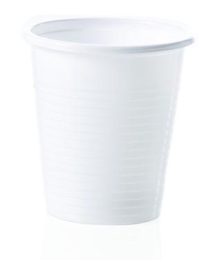 Bicchiere plastica bianco P160