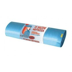 Sacchi rifiuti Worky 55x60 cm. azzurri