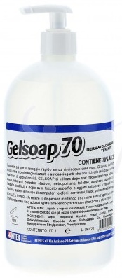 Gelsoap70 flac. 1000 ml. Sanificante
