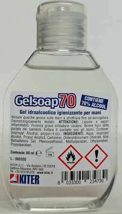 Gelsoap70 flac. 80 ml. Sanificante