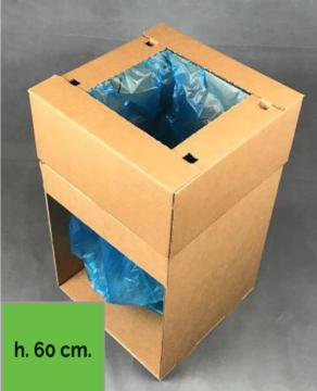 Carton Basket con ricarica trasparente e fascette