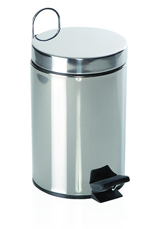 Pattumiera Metal Inox