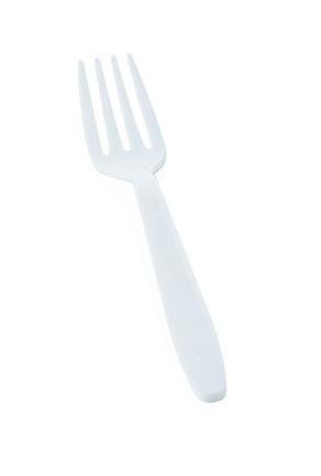 Forchetta in plastica bianca